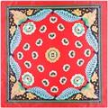 90 cm * 90 cm 2017 Nueva Moda bufanda roja mujeres squared bufandas pañuelos de gasa bufanda del hijab musulmán de moda Femenina A347