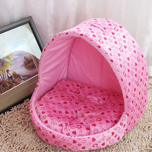 Dog Beds For Small Dogs Warm Print Soft Pet Cushion Kennel Mongolia House Tent Cat Sleeping Pad Supplies ATY-031