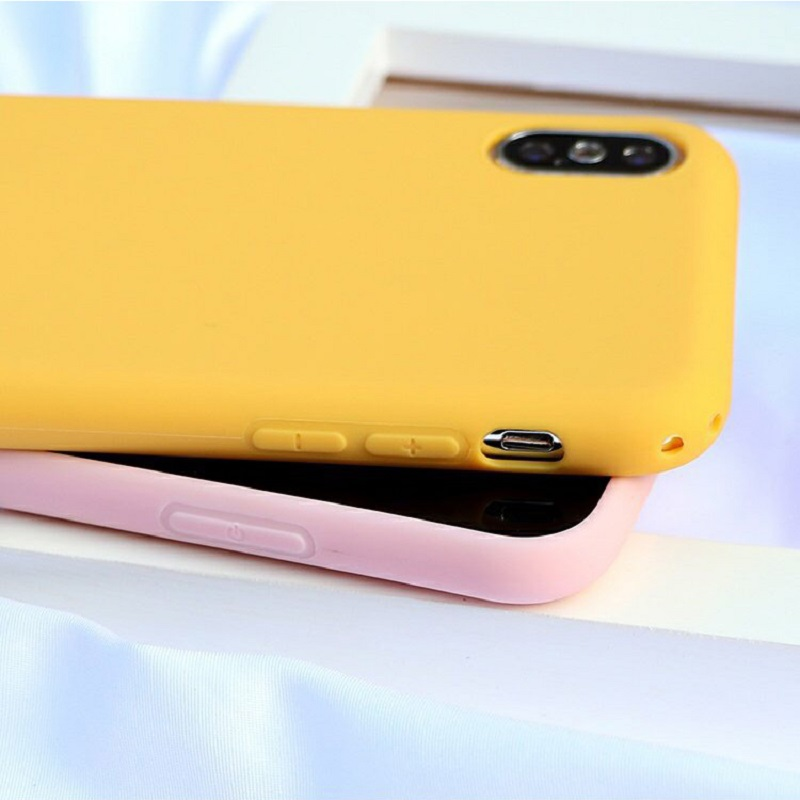 Candy Color Matte Phone Case For IPhone 6s Plus 6 7 8 5 5s SE For IPhone XS MAX X XR Simple Solid Soft TPU Cases Back Cover