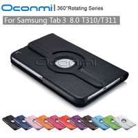 360 Rotating PU Leather Case For Samsung Galaxy Tab 3 8 0 With Stand Function Tab3