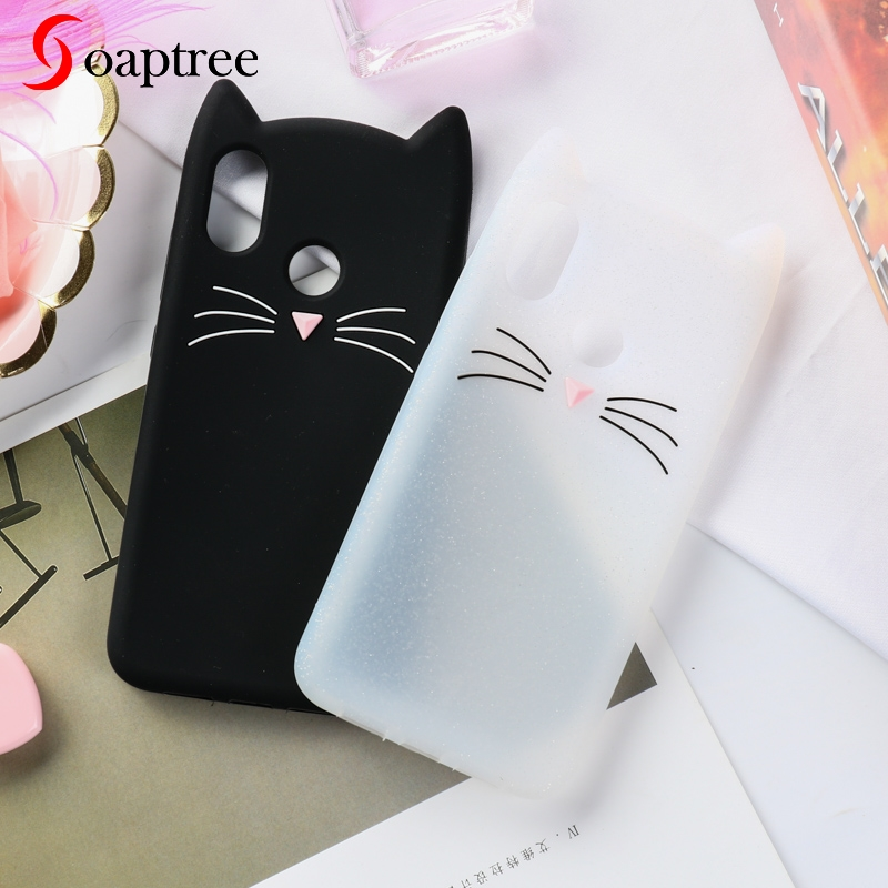 Silicone Case For Xiaomi Mi 8 SE Cases 3D Cartoon Cute Cat Ear Soft TPU On The Protective Cover for Xiaomi Mi8 SE Bumper in Fitted Cases from Cellphones Telecommunications
