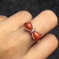 5.5*6.5mm ragazze regalo regalo di compleanno mamma reale argento sterling 925 natural corallo rosso anello fine jewelry donne anelli
