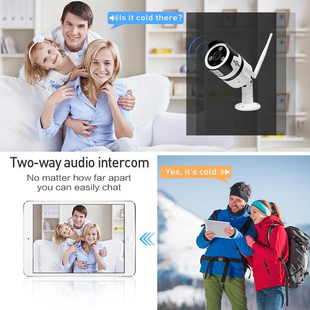 Hiseeu Wi-Fi Outdoor IP Camera 1080P 720P Waterproof 2.0MP 1