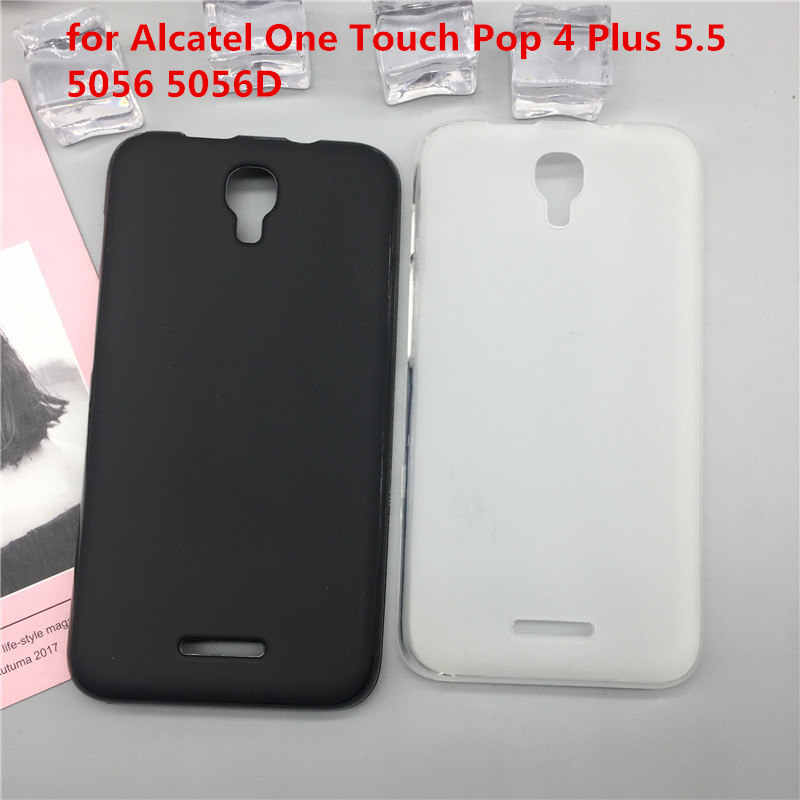 Original TPU Phone Case Covers for Alcatel One Touch Pop 4 Plus 5.5 5056 5056D Matte Soft Silicone Back Cover Cases