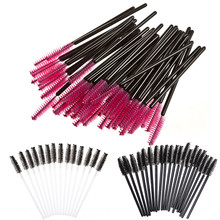 New 100PCS Disposable Eyelash Brush Mascara Wands Applicator Spoolers Make Up Brushes Makeup Tool Pincel Maquiagem
