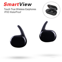 Newest Mini Wireless In-Ear True Wireless TWINS Earphone Bluetooth portable headphones with charging box handsfree Touch control