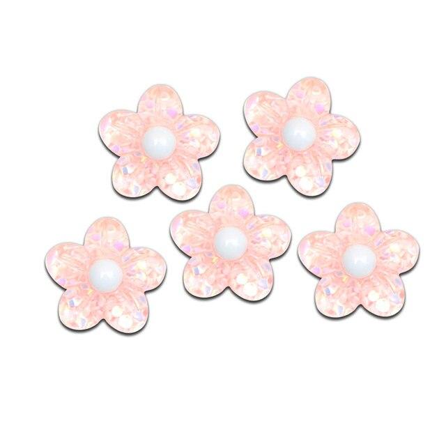 Cabochon de décoration en résine rose brillant | 20 pièces, artisanat bricolage, embellissements Kawaii pour accessoires de Scrapbooking