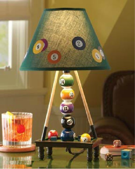 Free Shipping 1Piece Billiards Table Lamp For Billiards Lovers Snooker Pool  Ball Lamp Desk Light Table Decoration Lamp