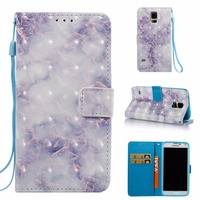 3D Luxury Leather Wallet Phone Case For Samsung Galaxy S2 S3 9300 S4 9500 S5 9600