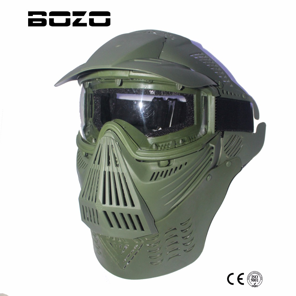 Tactical Military Full Face Anti-fog Double Lens Mask Protecter (olive Black) Airsoft Paintball New