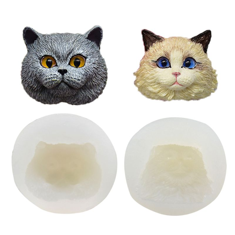 Pet Cat Head Shape Pendant Resin Casting Mold Silicone Mold Jewelry Making Tools