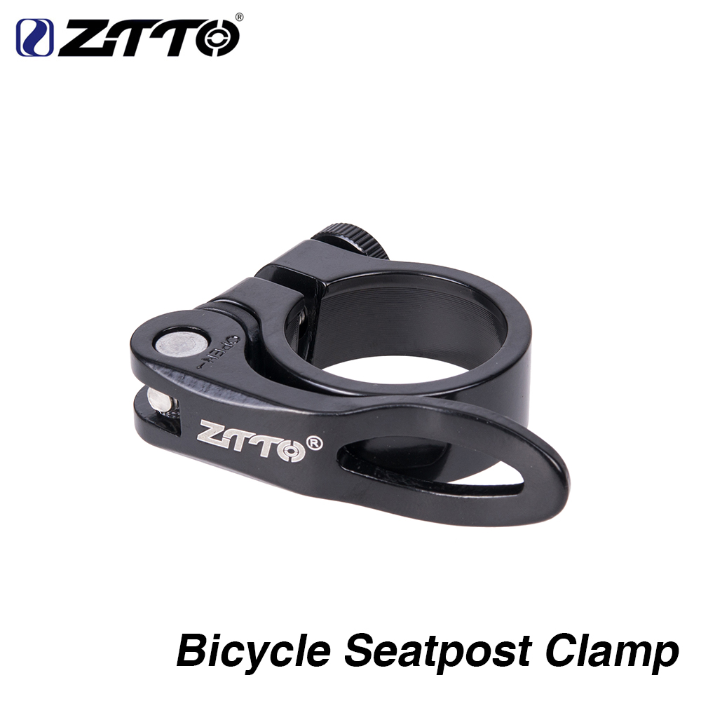 ZTTO Bicycle Seatpost Clamp 31.8mm 34.9 MTB Bike Cycling Saddle Seat Post Ultralight Clamp Quick Release