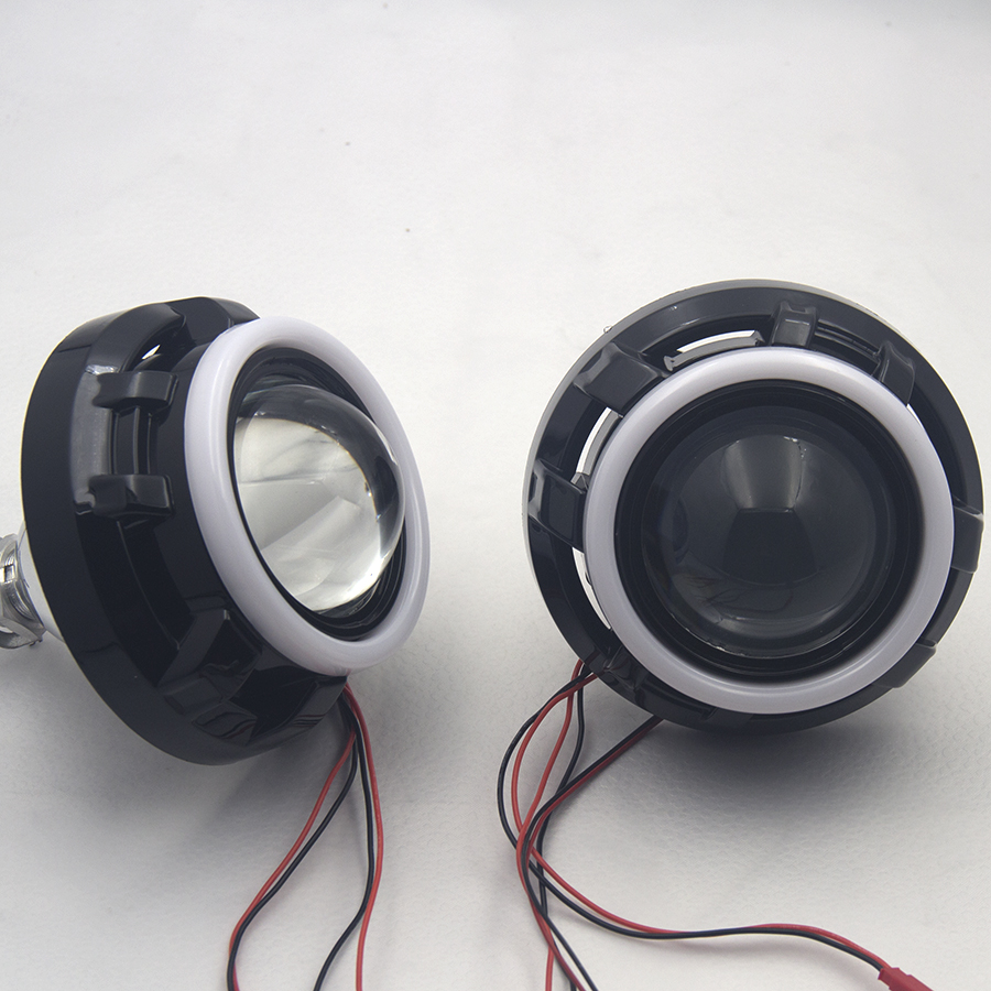 ROYALIN Metal Xenon Lens 3.0 H1 Projector Lens w/ Apollo 1.0 Shrouds LED Cutton Light Angel Eyes Halo Rings H4 H7 Car Styling