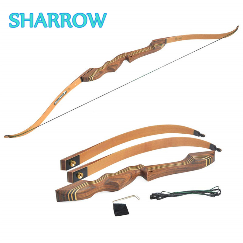 1Pc 60 Takedown Recurve Bow Wooden Riser Hunting Adult Right Hand Bow 20-55lbs For Archery Target Practice Shooting Accessories1Pc 60 Takedown Recurve Bow Wooden Riser Hunting Adult Right Hand Bow 20-55lbs For Archery Target Practice Shooting Accessories