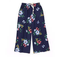 Floral Pants 2019 New Pajamas Pants Linen Cotton Women Casual Trousers Wide Leg Loose Sleep Bottoms Spring Summer For Home wear