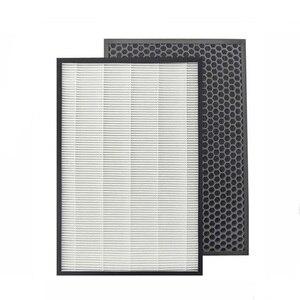Image 2 - Für Sharp Luftreiniger KC D50 KC E50 KC F50 KC D40E Haufen Filter Actived Carbon Filter 40*22 cm Luftbefeuchter Teile