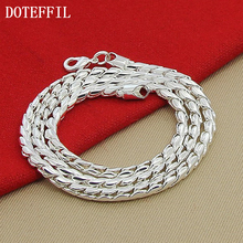 Hot Wholesale Price Silver Snake Necklace 4mm Silver Chain Necklace Silver Jewelry Wholesale Fashion Chain Necklace