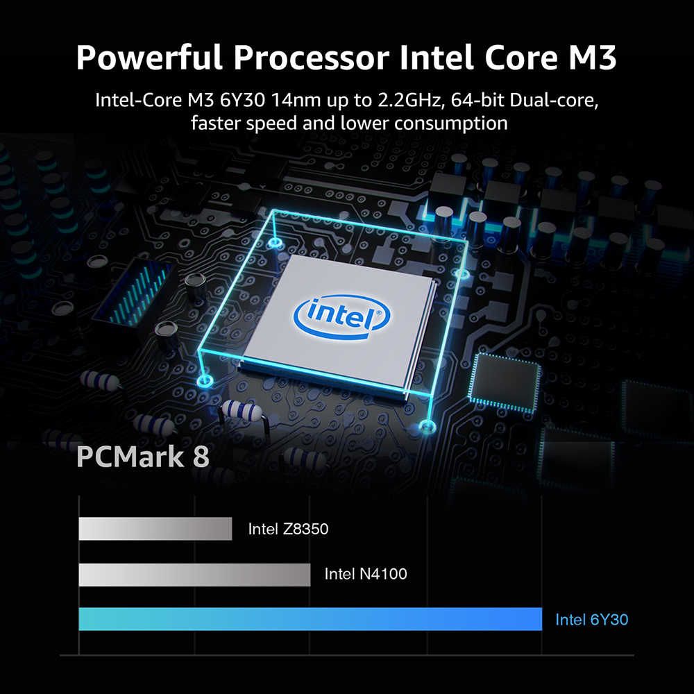 CHUWI ايروبوك 13.3 بوصة انتل كور M3 6Y30 ويندوز 10 8GB RAM 256GB SSD حاسوب محمول مع لوحة مفاتيح خلفية غطاء معدني حاسوب محمول