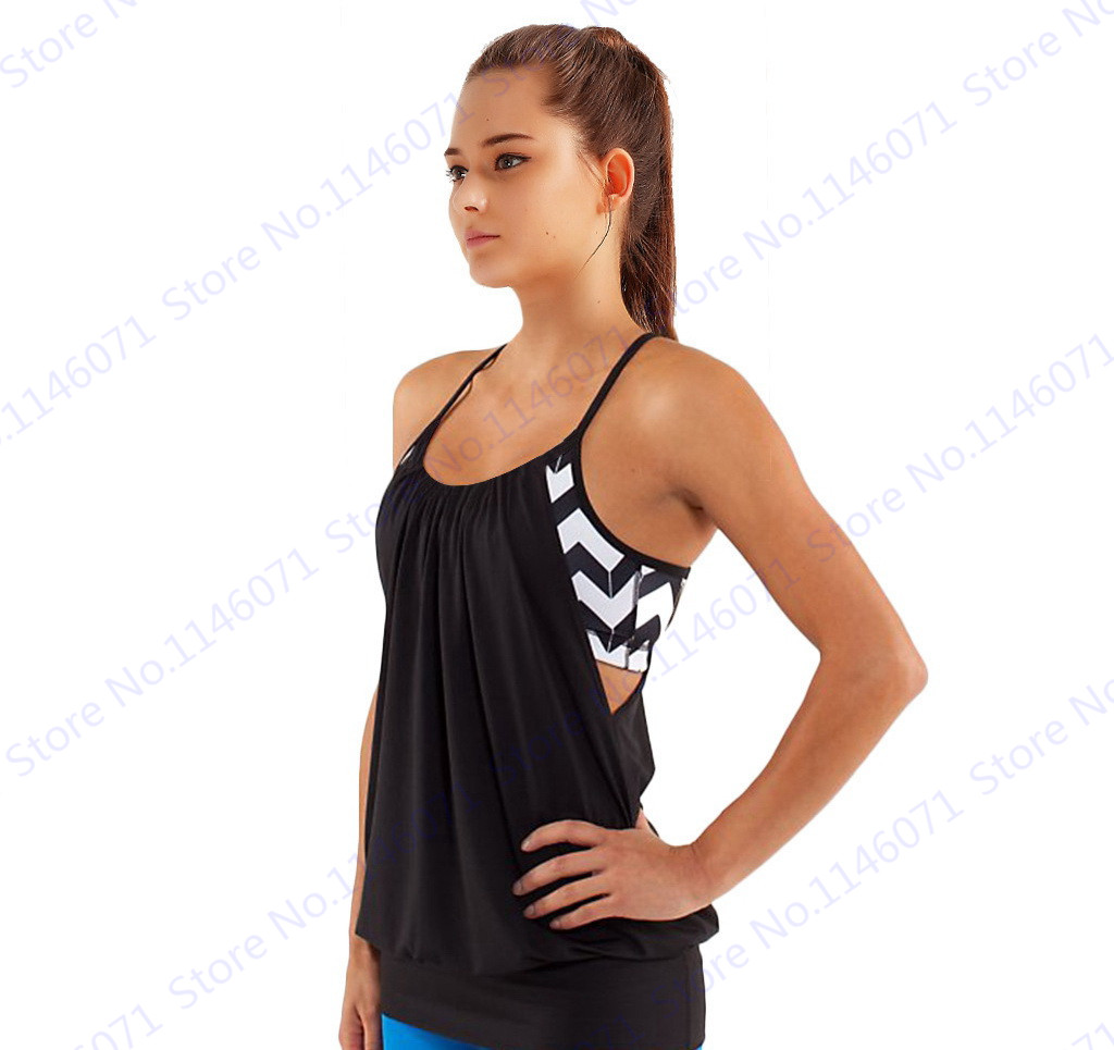 8657a8b2dcd45 Black Racerback Yoga Shirts With Built in Bra Womens Burnout Sports Running  Tank Top Blue Sexy Halter Sleeveless Fitness T Shirt-in Yoga Shirts from  Sports ...