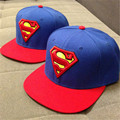 2016 New Fashion Superman Snap back Snapback Caps Hat Super Man Adjustable Gorras Hip Hop Casual Baseball Cap Hats for Men Women