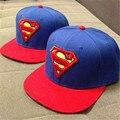 2016 nova moda superman pular de volta snapback caps chapéu de super homem ajustável Gorras Hip Hop Casual Boné de Beisebol Chapéus para Mulheres Dos Homens