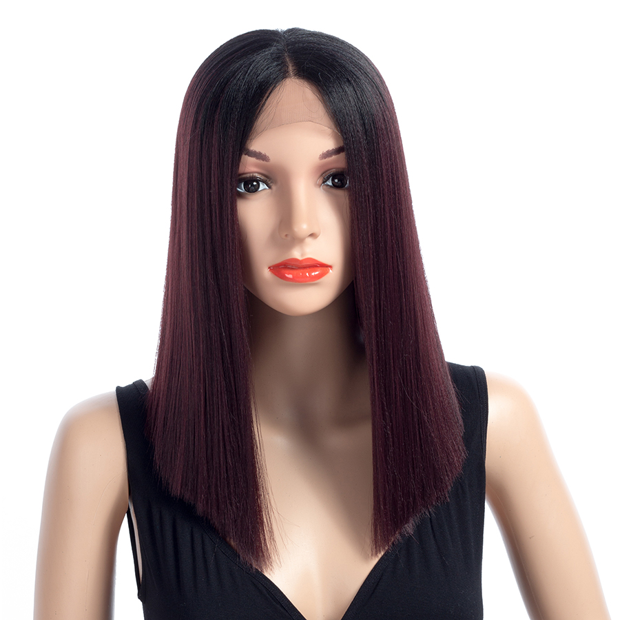 Aigemei Fiber Glueless Long Straight Ombre Colors - Синтетические волосы - Фотография 6