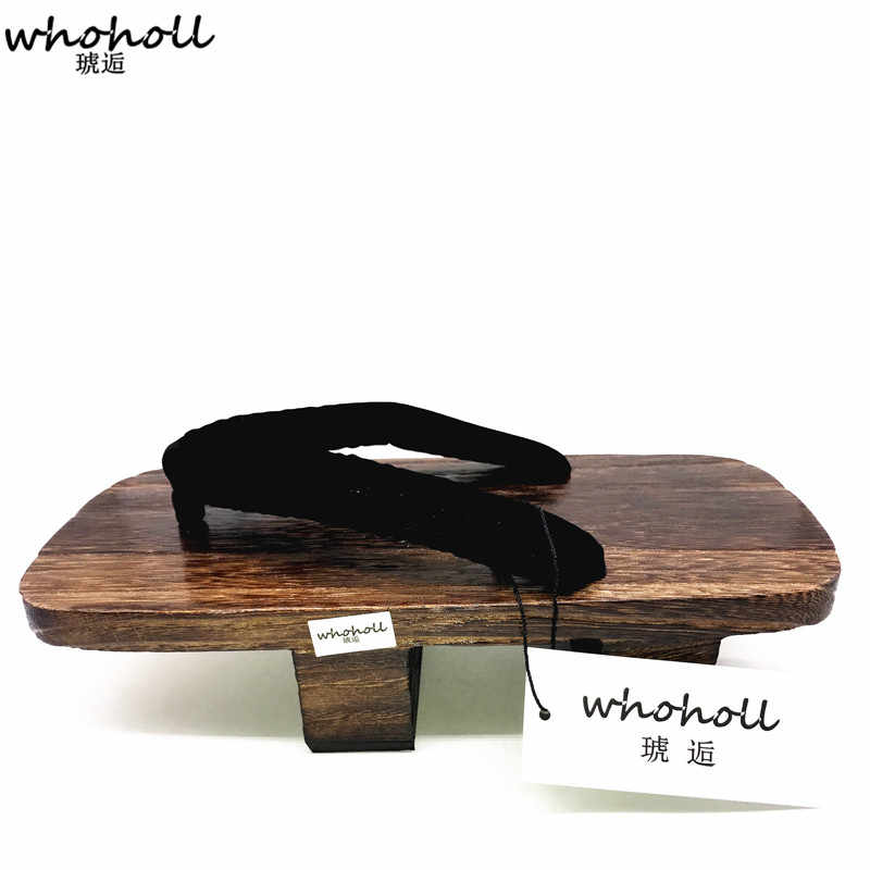 835e9ffc19e ... WHOHOLL Japanese Geta Clogs Man Sandals Wooden Shoes Men Two-toothed  Heel Platoform High Summer ...