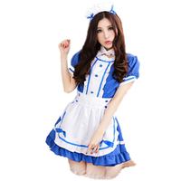Sexy Maid Costumes Bow Uniform Outfit Anime Temptation Nightclub Cosplay Party Dress Costume Fantasia Clothes