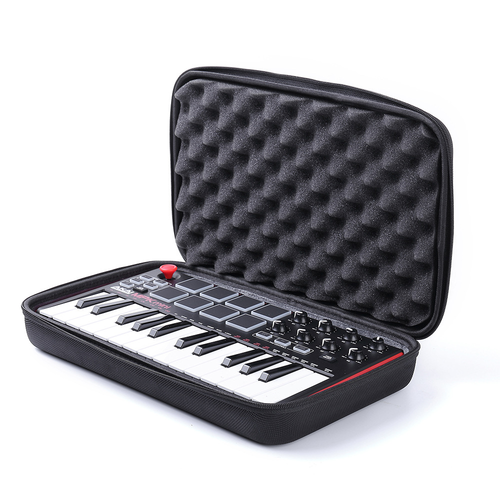 Travel Hard Carrying Case For Akai Professional MPK Mini MKII | 25-Key Ultra-Portable USB MIDI Drum Pad & Keyboard Controller