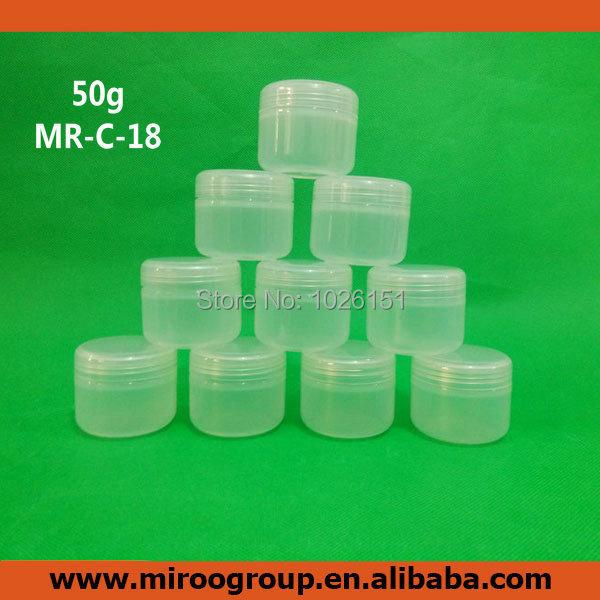 Brezplačna dostava 20pcs 50ml kozarček kozmetična krema kozmetični kozarec dopolni napolni prazna plastenka na debelo, posode s kremo kozarci 50g