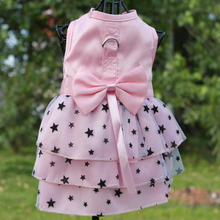 Pink Green Harness Dress for Dogs Summer Pink Tulle Chiffon Pet Puppy Harness Dress Skirt  Pet Clothes XXS XS S M L XL
