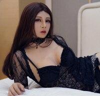 (Haene)Silicone Full Head With Torso Female Face Kigurumi Cosplay DMS Crossdress Mask With D Cup Breast Form Crossdresser DOLL