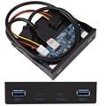 """3.5 """"Panel Frontal Floppy Bay 20Pin Disco para 2 Puertos USB 3.0 Tipo C y 2 Puerto de Expansión Hub USB3.0 Hembra Adaptador"""