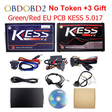 Online Master KESS V5.017 V2.23 Green / Red PCB Manager Tuning Kit KESS 5.017 No Tokens For Car/ Truck/Tractor Free Shipping