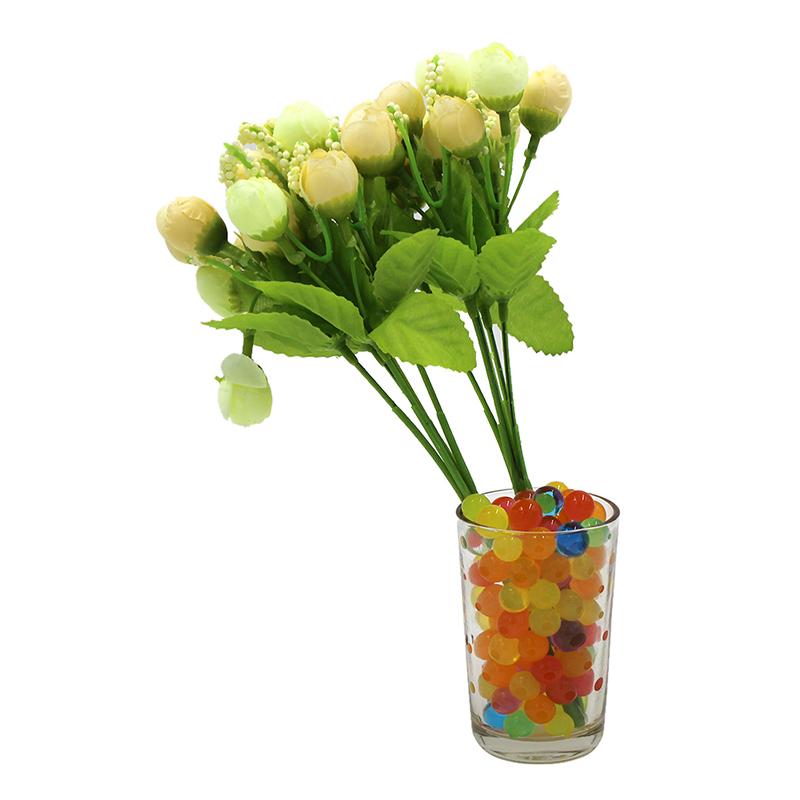100pcs//bag Crystal Soil Hydrogel Gel Polymer Water Beads Flower Growing Balls