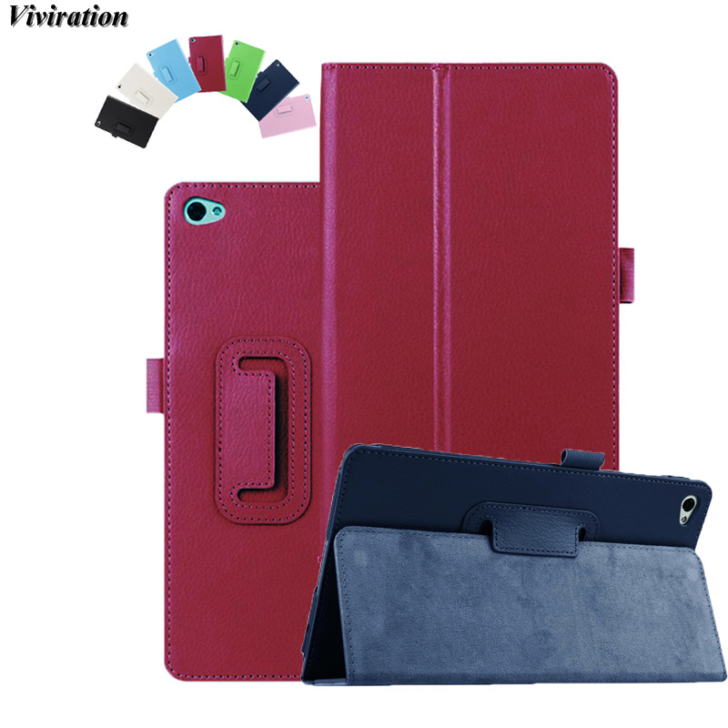 Viviration New Tablet Accessories PU Leather Case For Huawei MediaPad M2 8.0 Flip Stand Cover Case Smart Tablet PC Cover Case