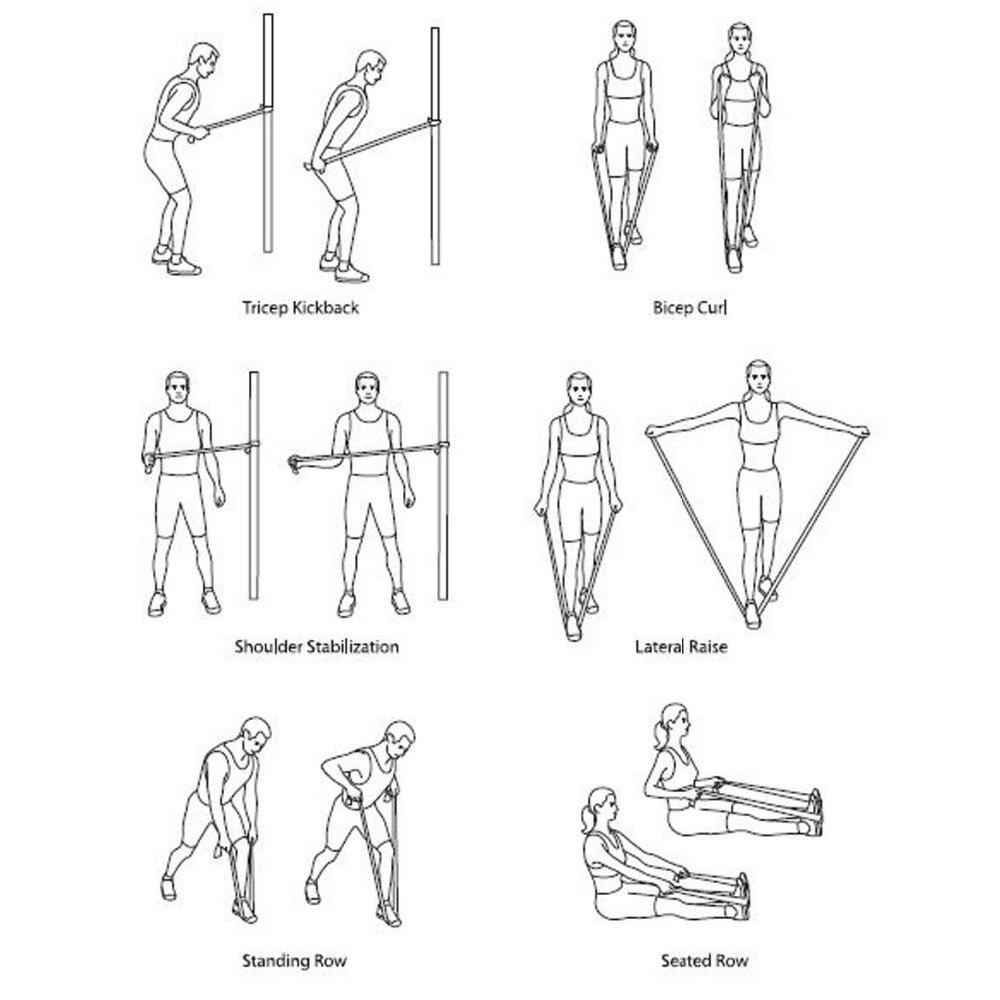 3m ελαστικές πολυλειτουργικές ζώνες - Fitness και bodybuilding - Φωτογραφία 5