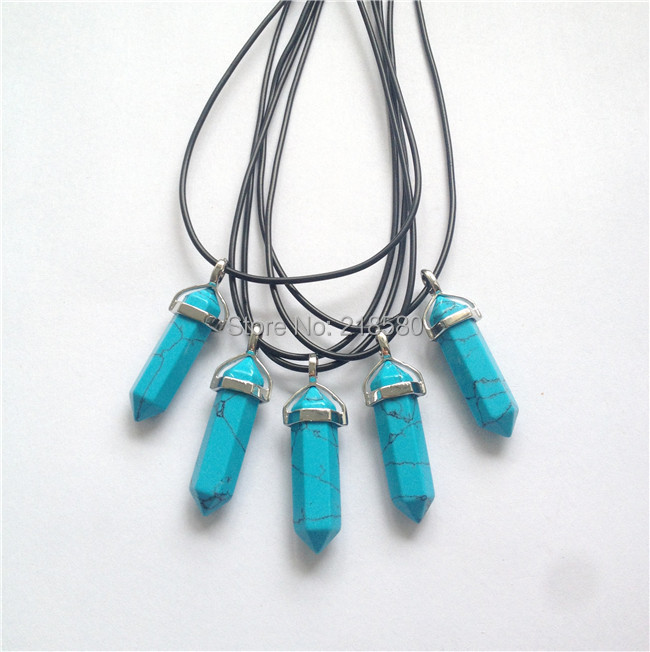 Turquoise Crystal Choker Turquoise Crystal Point Necklace Turquoise Necklace Choker Crystal Necklace Turquoise Crystal Necklace