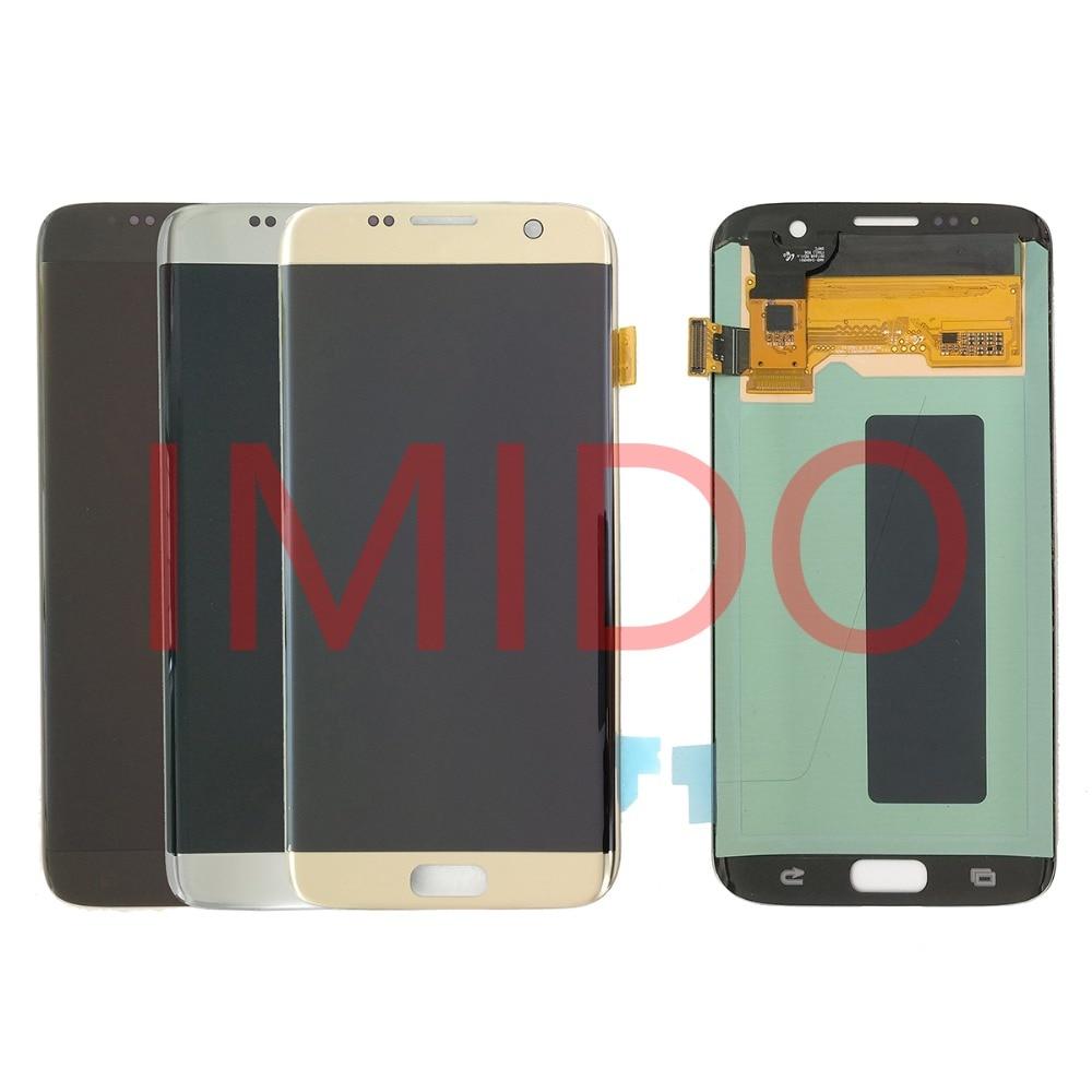 Per Samsung Galaxy S7 BORDO G935 G935F Super AMOLED Display LCD + Touch Screen Digitizer Assembly Parti di Ricambio