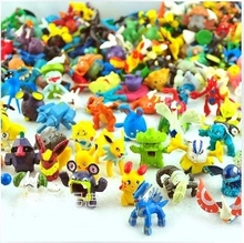 Classic Toys Pokemon Action Figures 48 Different One Lot 2-3CM Pokemon Mixed Pocket Toy Pikachu Monster Best Quality Free Ship