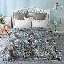Simple estampado europeo algodón poliéster 150x20 0 cm/200x220cm manta acolchada/suave manta de verano edredón cubierta de cama # sw