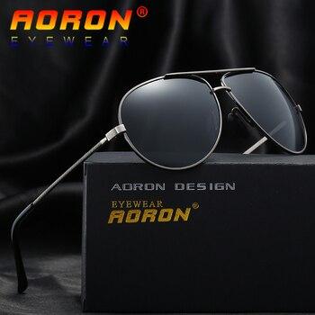 0872047176 AORON diseño de marca de gafas de sol polarizadas gafas de sol de conducir  hombre piloto UV400, accesorios, lentes gafas de sol para hombres A212