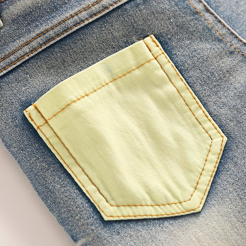 Boys Jeans Children Sring Autumn Full Length Jeans Pants Cotton High Quality Jeans with Elastic Waist For 3 to 7 years old 6