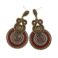 2 colors Vintage Women Exaggerated Ethnic Charms Beads Pendants Statement Drop Earrings for Women Fashion Bijoux Bohemia Brincos