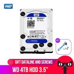 WD Western Digital синий 4 ТБ Hdd Sata 3,5 ''внутренний жесткий диск Disque мажор настольный жесткий диск для ПК