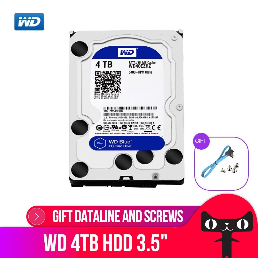 WD Western Digital Blue 4 tb Hdd Sata 3.5 ''Disque Dur Interne Disque Dur Disque Dur Disque Dur Disque Dur De Bureau pour PC