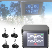 New TPMS Car Wireless Tire Tyre Pressure Monitoring System With 4 Internal Sensors For Cars Solar Power