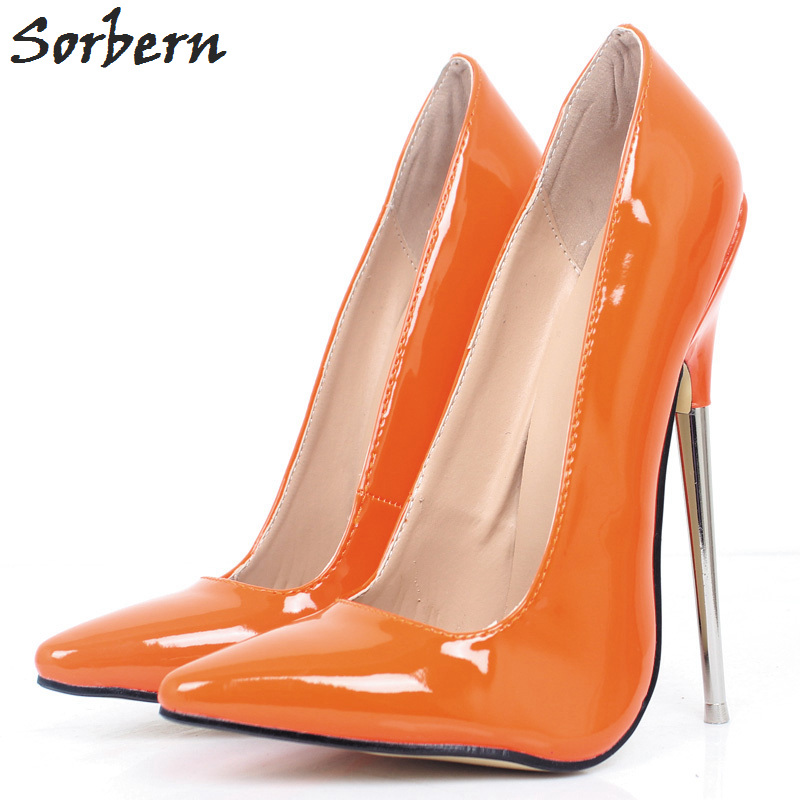 orange Femmes Nouveau Stilettos Talon Pompes Talons Taille purple Shiny Pompe À Bling Celebrity Shiny Shiny Hauts Sexy Sorbern white 10 blue Shiny Métal Chaussures silver custom Color Shiny leopard Shiny Black Suprême rose Shiny red wIax5ngq
