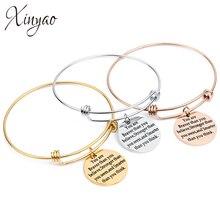 678ff6bee468 XINYAO Rosa oro pulsera del encanto para las mujeres de acero inoxidable de  acero de encantos brazalete pulsera brazalete