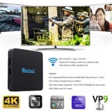 Q28 QINTAIX android 7.1 Nougat RK3328 QINTAIX android caixa de tv 2 GB RAM 8 GB ROM Quad Core 4 K HDR media player